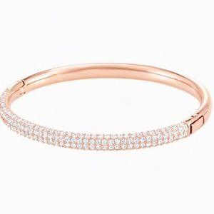 Swarovski Bangle Bracelet, Rose Gold